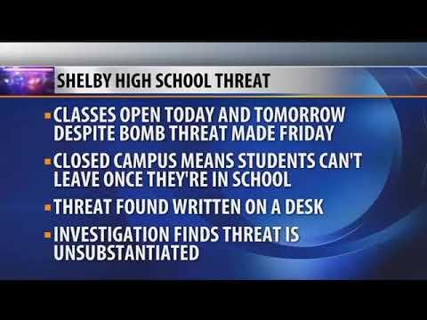 Shelby school investigating bomb threat