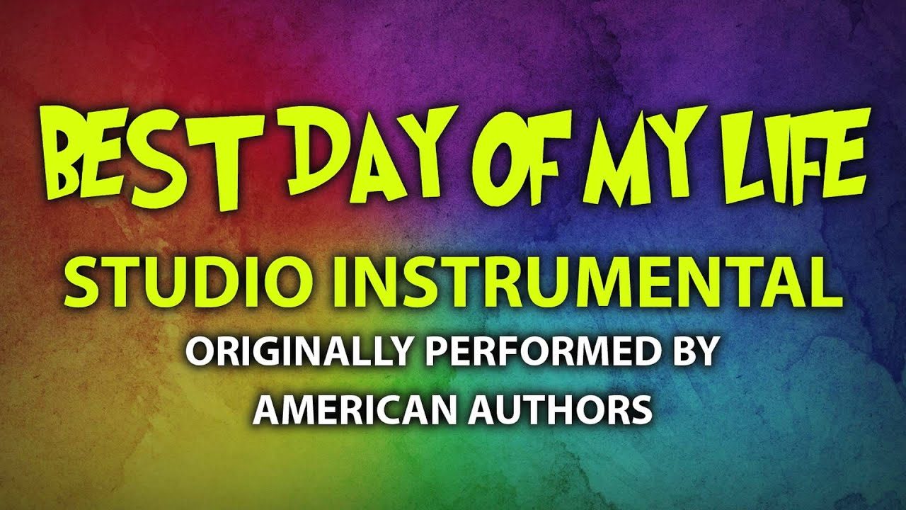 Best day of my life (cover instrumental) [in the style of american.