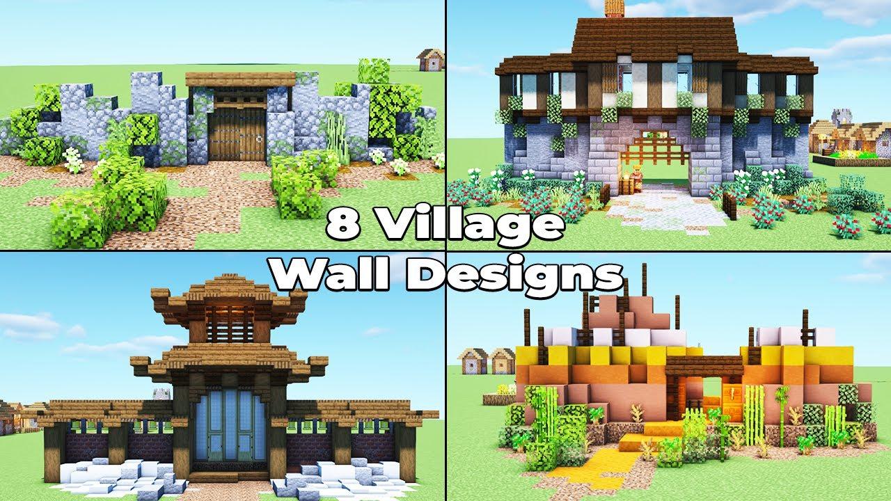 133 Village Wall Designs for Minecraft 13.135 Survival