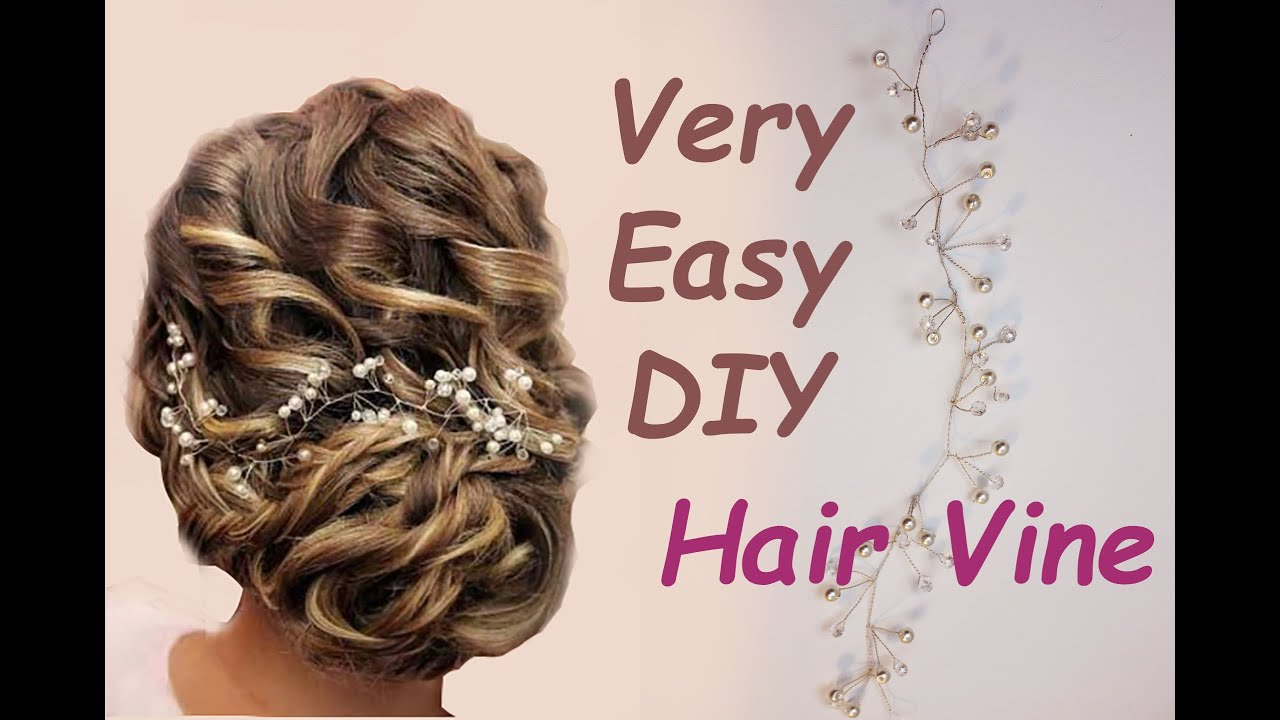 super easy diy bridal hair vine