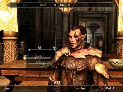 How To Make A Handsome Wood Elf In Skyrim