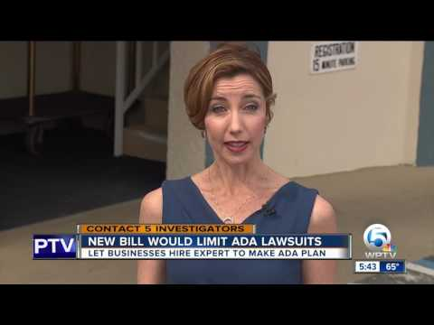 New bill would limit ADA lawsuits