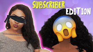 BLINDFOLDED CAS CHALLENGE W/ A SUBSCRIBER! 🙈😱 | The Sims 4