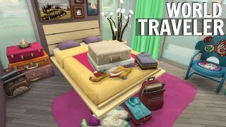 Sims 4 // WORLD TRAVELER HOME | SPEED BUILD (No CC) TRAVEL LOVER