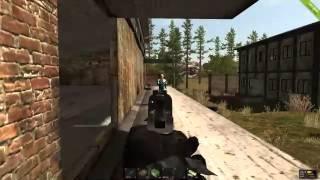 Rust Alpha - 2v3 battle at big rad town