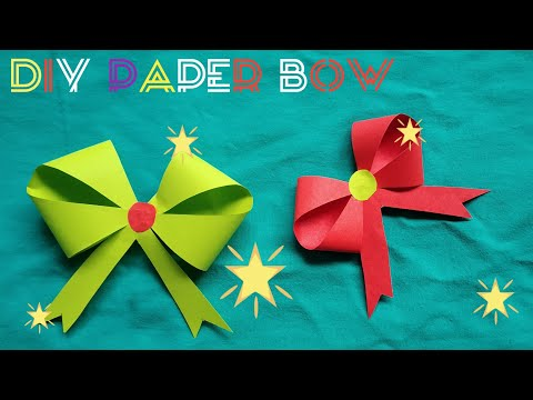 DIY Paper Bow Making / Ribbon Making / Origami Ribbon/ suman360 BD