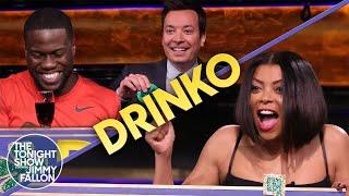Tonight Show Drinko with Kevin HartandTaraji P. Henson