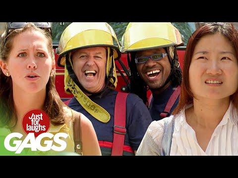 Best of Firefighter Pranks   Just For Laughs Compilation