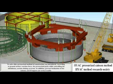 Caisson Foundation Construction Technology (with English subtitles)