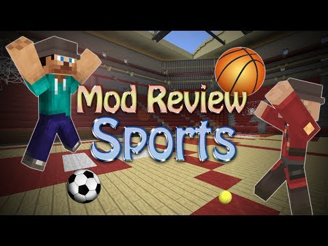 Minecraft Mod: FOOTBALL, BASKETBALL, BASEBALL, TENNIS! (Sports Mod)