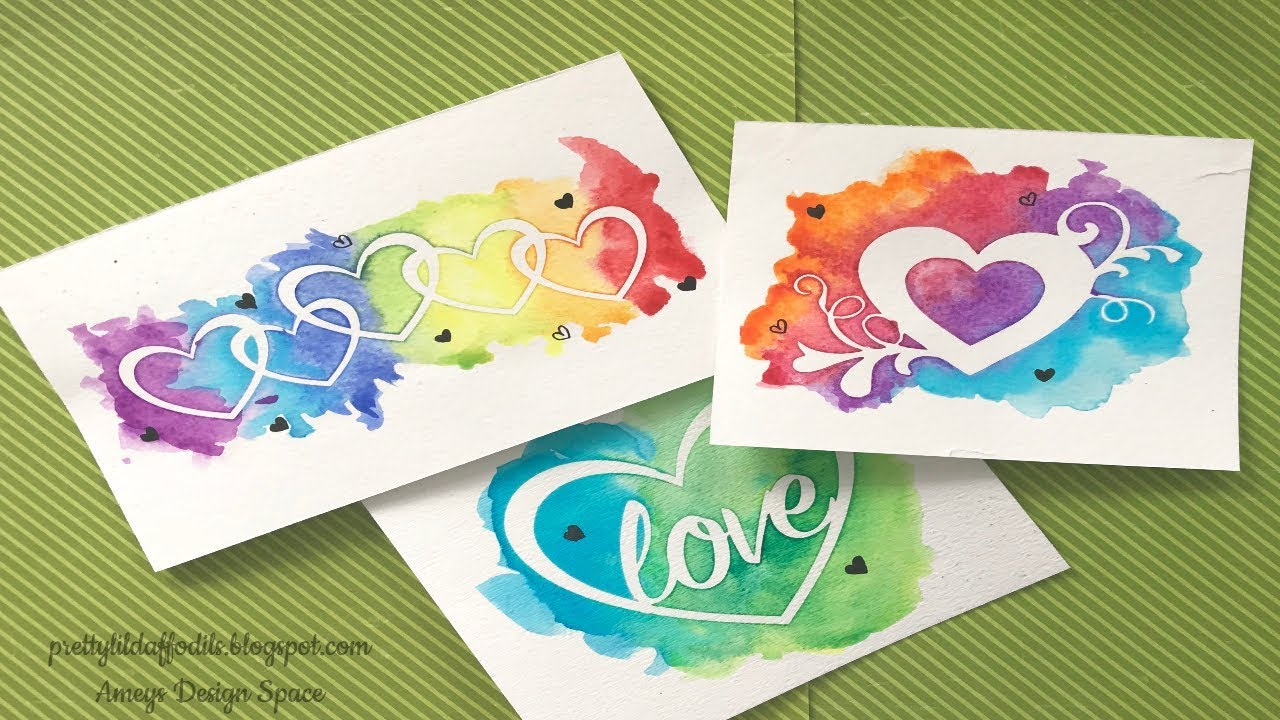 watercoloring  freezer paper masking perfect for card