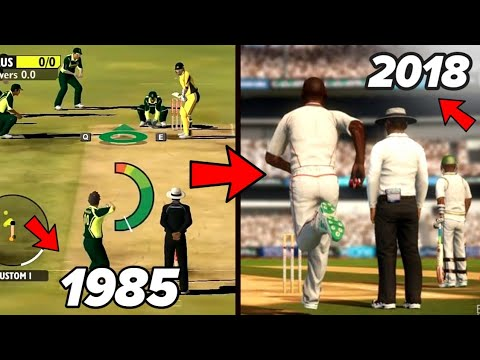 Cricket Video Games Evolution 1985 To 2018 | World First Cricket Game To Latest Version