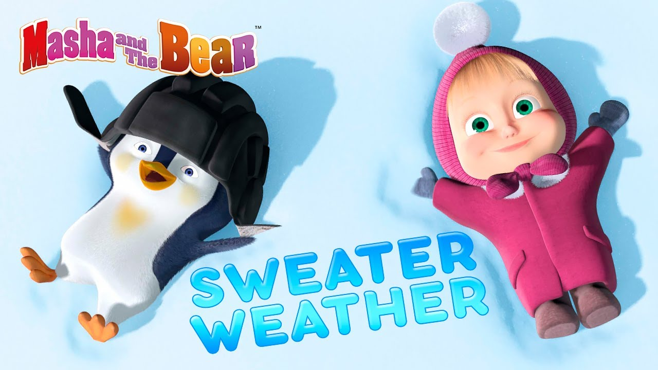 Download Masha and the Bear ☃️ SWEATER WEATHER ❄️⛸️ Best winter episodes collection 🎬 Cartoons for kids