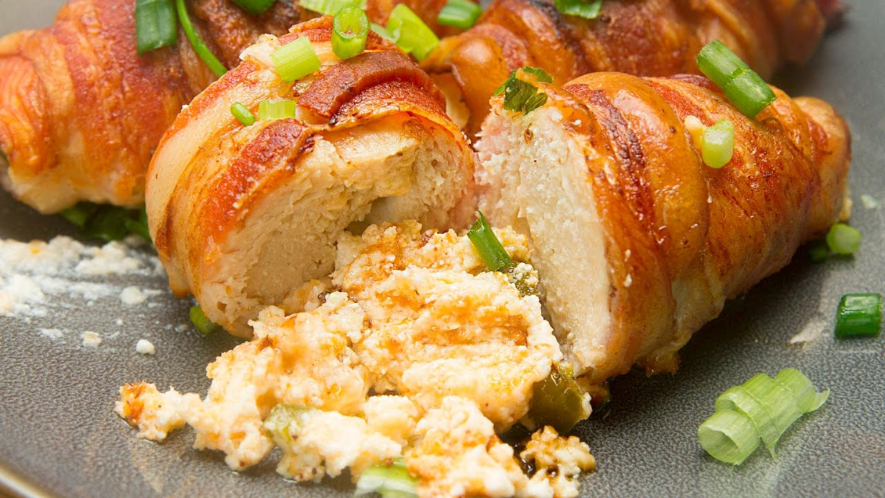 How To Make A Bacon Wrapped Jalape�o Popper Chicken