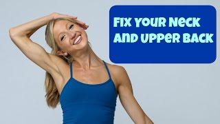 Neck Pain Relief Video! Stretches to relieve Tension and Stress in Your Upper Back and Neck