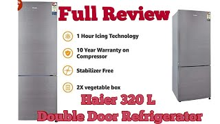 Best Refrigerator in 2019 Haier 320 L 3 Star Frost Free Double Door Refrigerator(