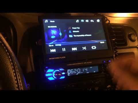 9601 Car Stereo MP5 MP3 Player 7 inch Flip Up Review - Audio Test