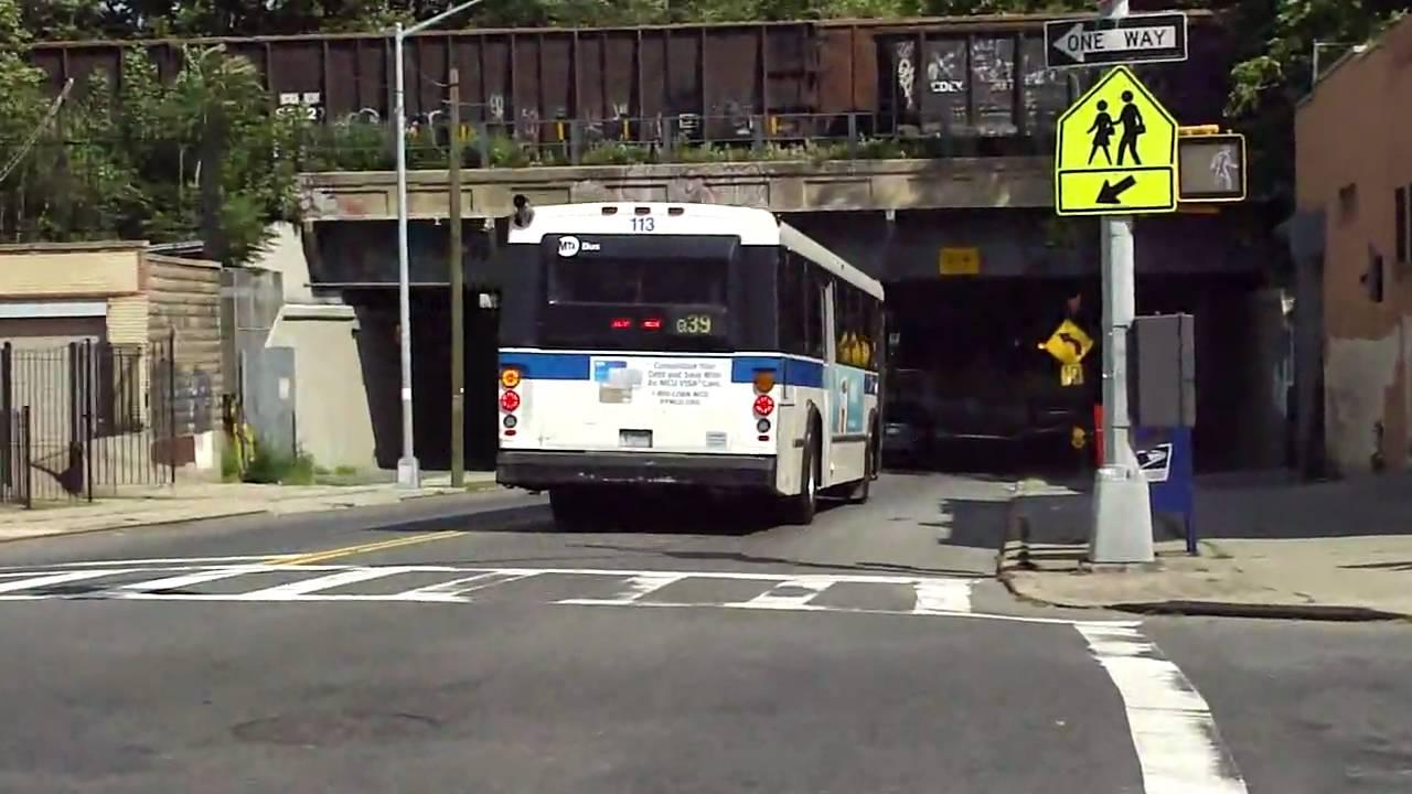 mta bus: 1995 obi orion v (ex bee line) & 1996 nova-rts q39 bus on