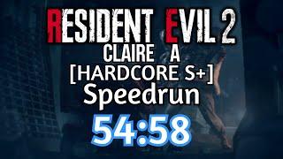 Resident Evil 2 Remake - (Hardcore) Claire Speedrun - 54:58 [World Record]