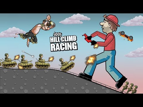 Hill Climb Racing 2 - Attack on GIANT BILL NEWTON (Funny Moment)