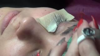Учебный процесс практика на модели,наращивание уголков глаз