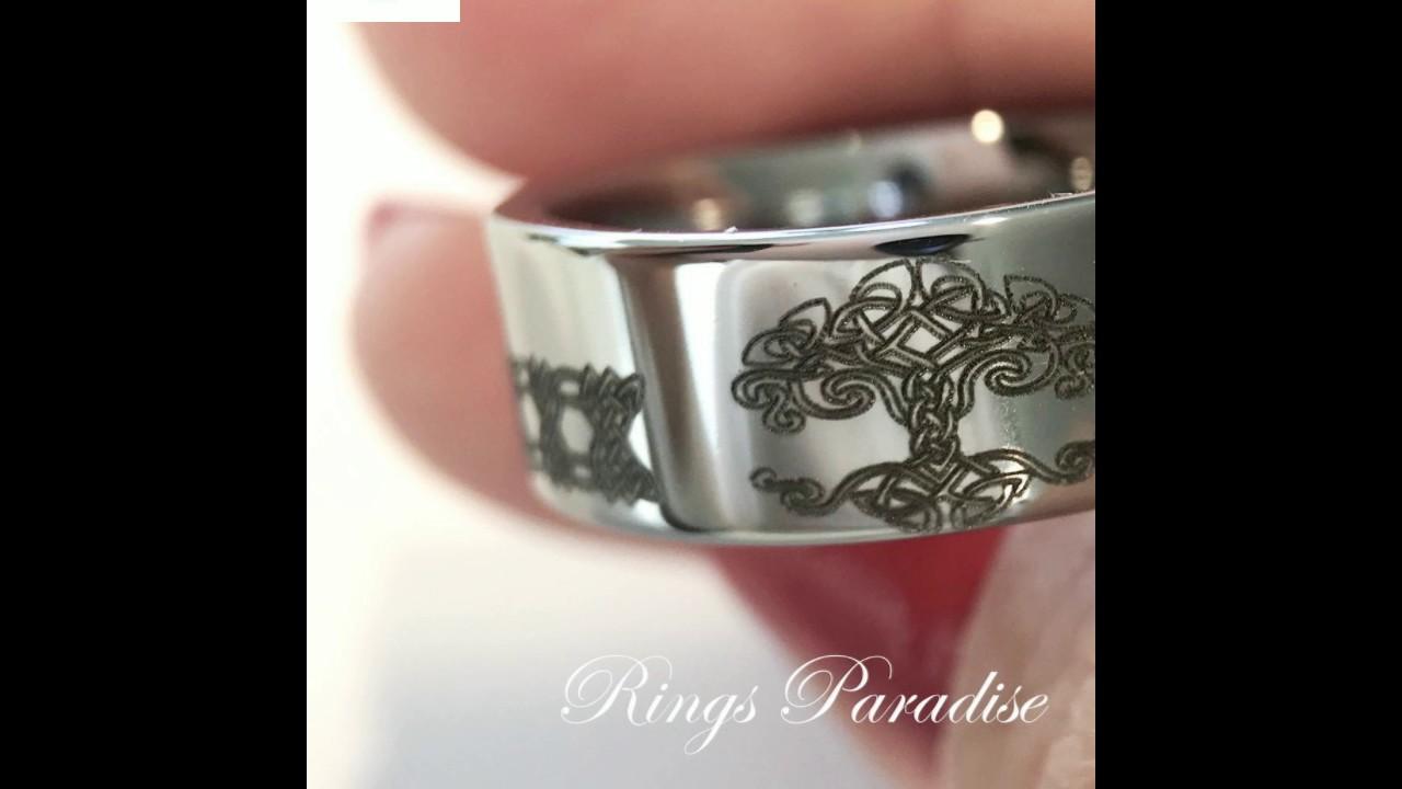 celtic love ring irish ring mens tungsten wedding bands tungsten