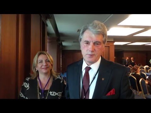 President Viktor Yushchenko and Ms  Katerina Yushchenko