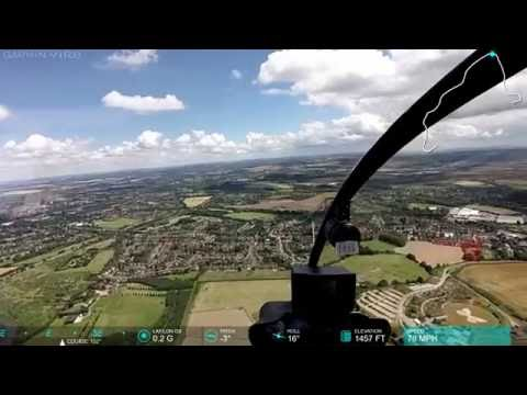 Flying helicopter from Denham to Elstree -England