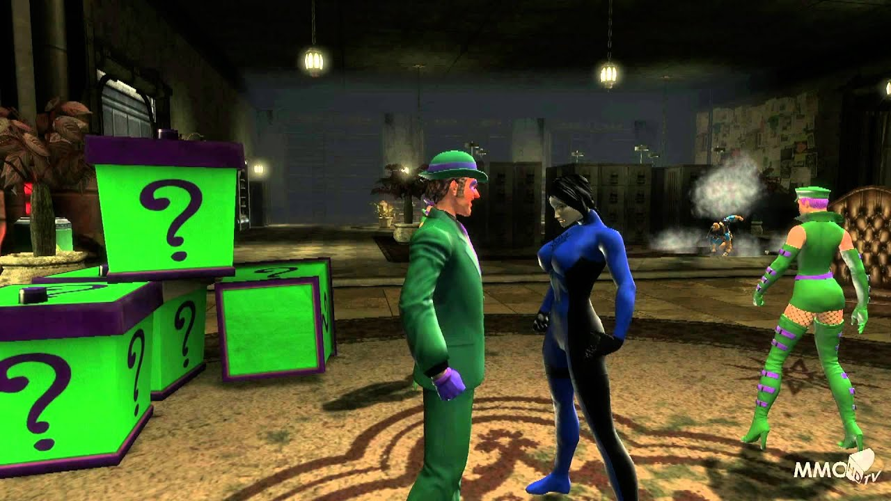 DC Universe Online Fighting Deathstroke helping Riddler Gameplay - MMO HD  TV (1080p)