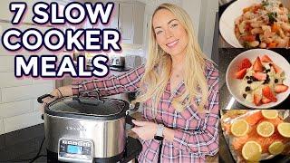 7 SLOW COOKER MEALS, EASY &amp HEALTHY CROCKPOT MEALS! Emily Norris