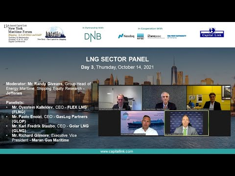 2021 13th Annual New York Maritime Forum - LNG Sector Panel