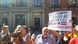 Concentración en solidaridad con los migrantes del Open Arms