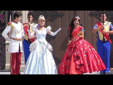 Disney Junior Princess Elena of Avalor Royal Welcome at Magic Kingdom w/ Cinderella, Disney World