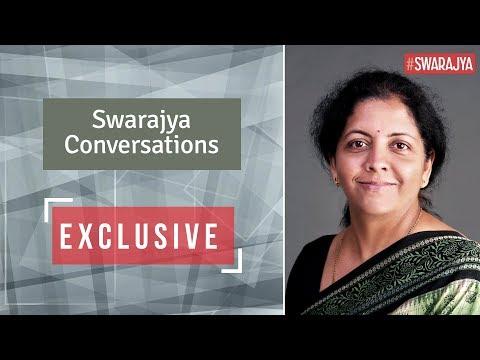 Swarajya Conversations with Minister of Defence - Nirmala Sitharaman