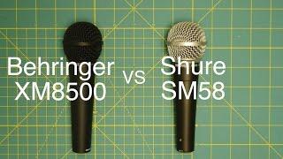 Behringer XM8500 v Shure SM58