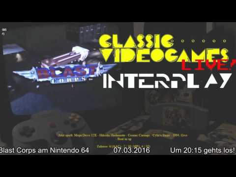 CVG LIVE! INTERPLAY #29 - Blast Corps am Nintendo 64