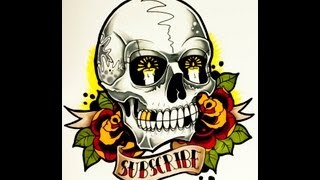 How to draw a Tattoo Style Skull by thebrokenpuppet