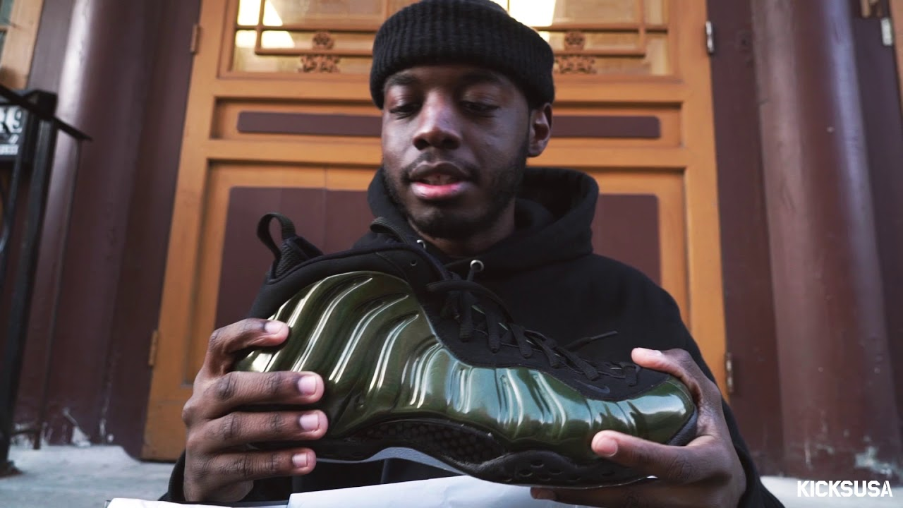 premium selection 5fd90 f528e Nike Foamposite Pro 'Legion Green' ON FOOT Review   Kicks and Fits