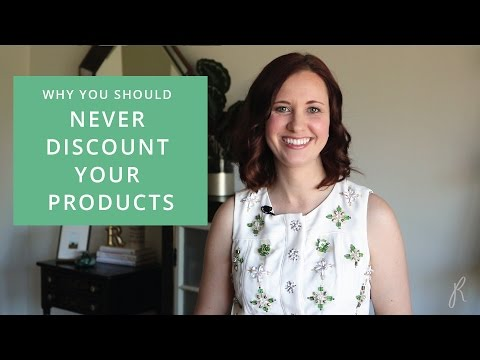 Add Value. Never Discount Your Products.
