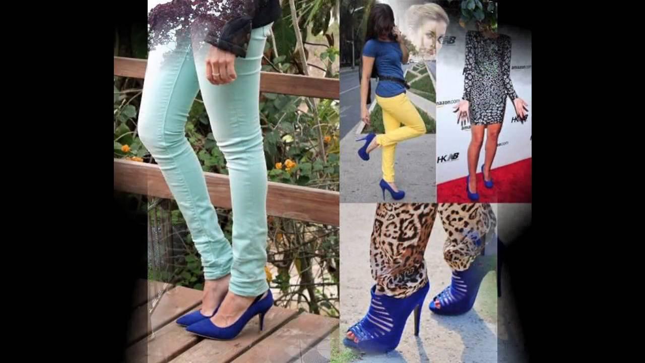 Combinacion De Ropa Con Zapatos Azules Youtube