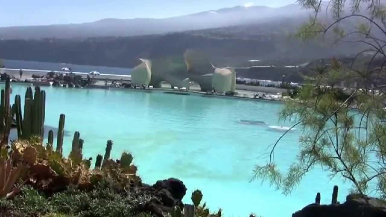 ténérife puerto de la cruz le parc aquatique martianez - youtube