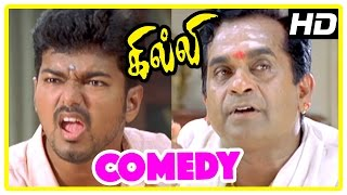 Gilli | Gilli Movie Comedy Scenes | Vijay & Brahmanandam Comedy scenes | Appukutty Rare appearance