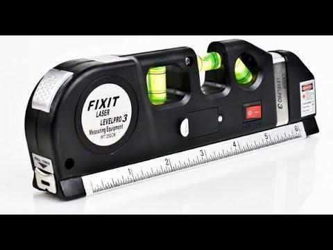 Laser Level Measure Tape Aligner   уровень лазер линейка рулетка