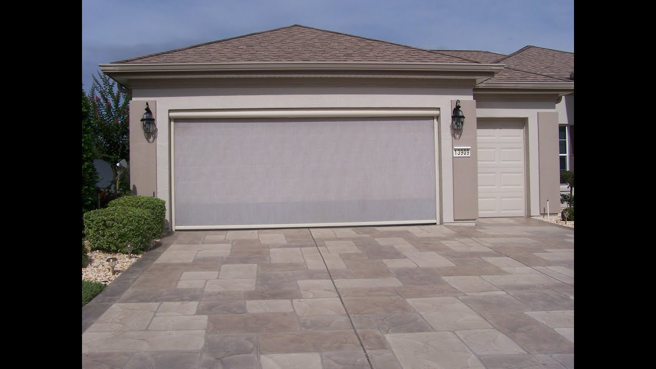 Garage door sliding screens skeet 39 r beat 39 r retractable for Motorized garage door screens