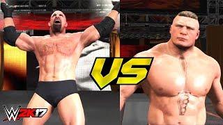 Brock Lesnar vs Goldberg WrestleMania 33 Highlights (WWE 2K17)