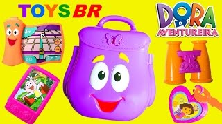 TOYSBR Mochila Surpresa da Dora a Aventureira em Portugues BR | Dora the Explorer Backpack Surprise