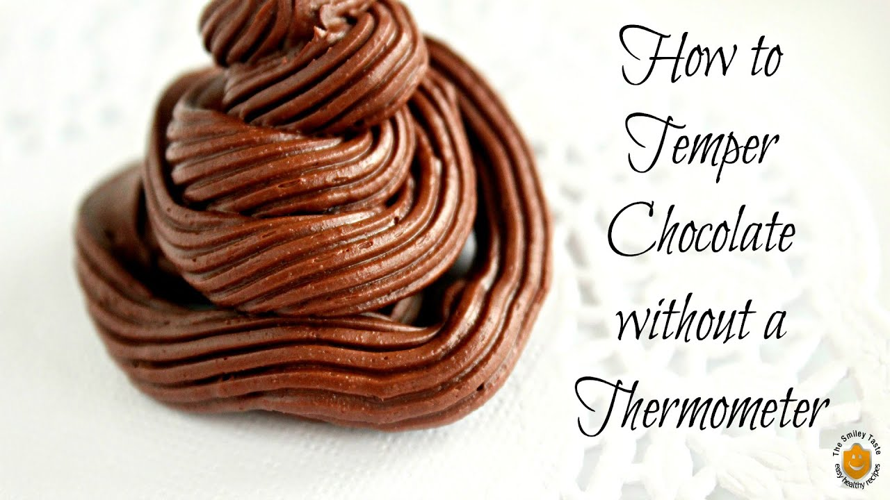 how to make chocolate shiny without tempering