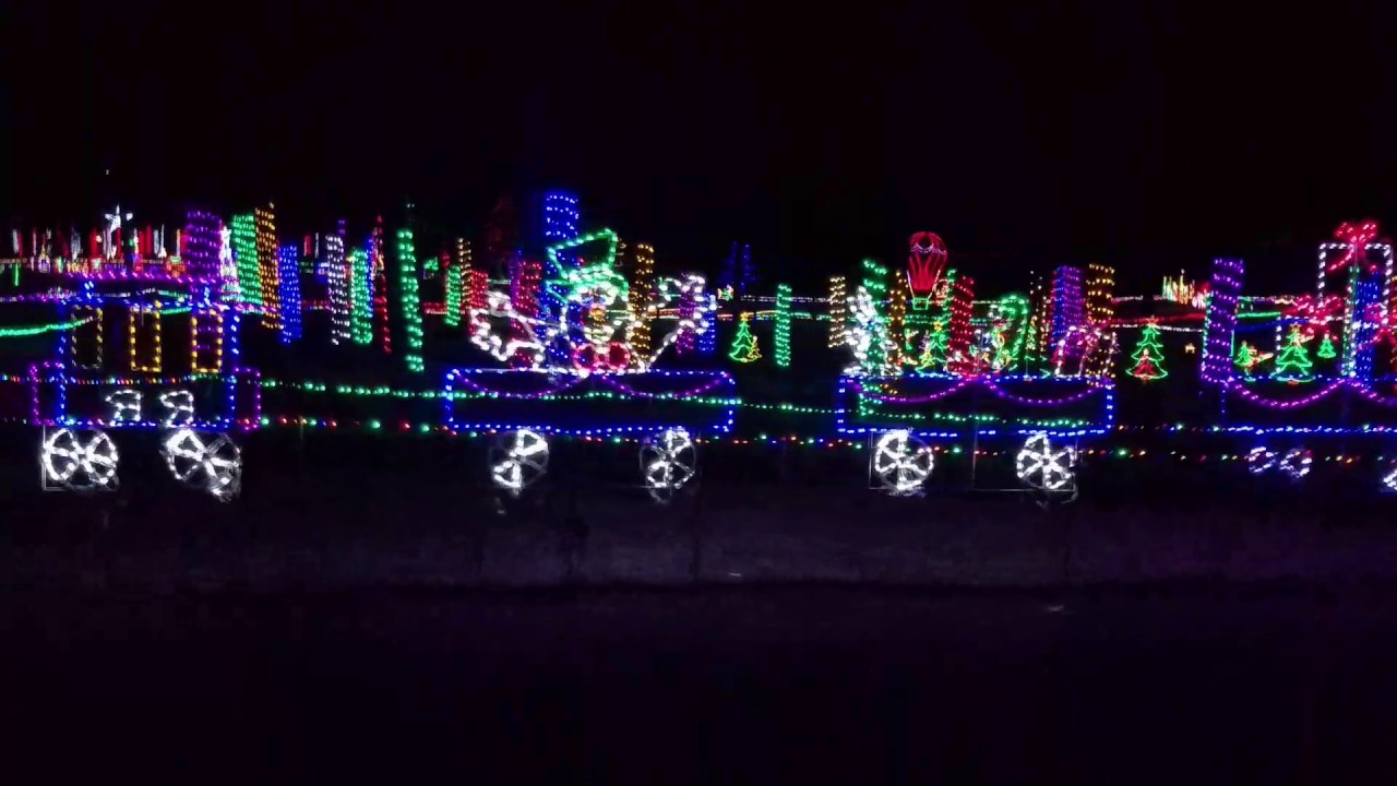 Christmas Lights at Hill Ridge Farm, Youngsville, NC. - YouTube