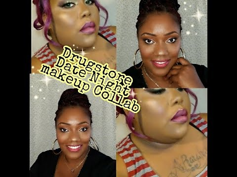 Date Night Drugstore Makeup | Collaboration with Ebony Fulton (Diva706)