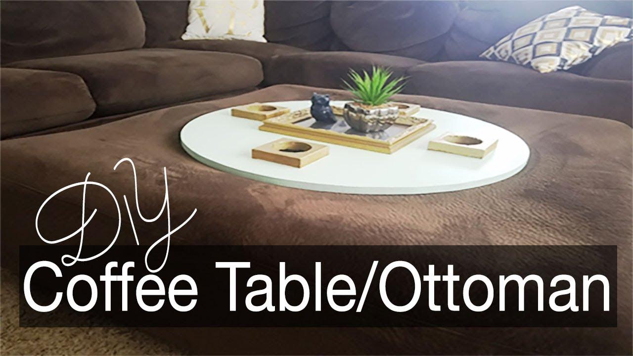 Perfect Diy Coffee Table Ottoman Combo Home Decor Youtube